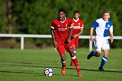 BLACKBURN, ENGLAND - Saturday, January 6, 2018: Liverpool's Rafael Camacho during an Under-18 FA Premier League match between Blackburn Rovers FC and Liverpool FC at Brockhall Village Training Ground. (Pic by David Rawcliffe/Propaganda)