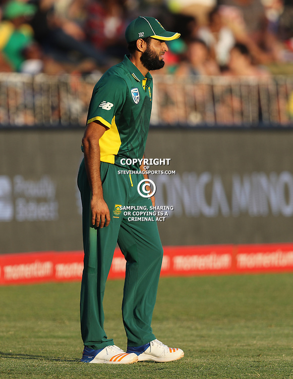 Imran Tahir of the (South African Proteas) during the 2nd ODI Momentum One-Day International (ODI) series South African and Sri Lanka at Kingsmead, Durban, South Africa.1st February 2017 - (Photo by Steve Haag)