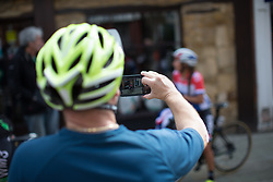 Anouska Koster (NED) of WM3 Pro Cycling Team is photographed by a spectator during Stage 1 of the OVO Energy Women's Tour - a 147.5 km road race, between Daventry and Kettering on June 7, 2017, in Northamptonshire, United Kingdom. (Photo by Balint Hamvas/Velofocus.com)