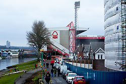 A general view of The City Ground, home to Nottingham Forest, by the River Trent - Mandatory by-line: Robbie Stephenson/JMP - 19/01/2019 - FOOTBALL - The City Ground - Nottingham, England - Nottingham Forest v Bristol City - Sky Bet Championship