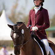 Eline Eckroth and Decadance during the 2013 Wellington Classic Dressage Sunshine Challenge at the Jim Brandon Equestrian Center in West Palm Beach, Florida.