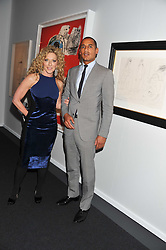 KELLY HOPPEN and DARREN CLARKE at a 2nd private view of the Pavilion of Art & Design London 2011 held in Berkeley Square, London on 11th October 2011.
