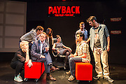 13/06/2013. PAYBACK:The Musical, at Riverside Studios, Hammersmith, London. Starring Olivier Award winner Matthew White. Written by Paul Rayfield. Directed and Developed by Simon Greiff.