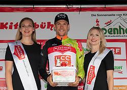 12.07.2019, Kitzbühel, AUT, Ö-Tour, Österreich Radrundfahrt, 6. Etappe, von Kitzbühel nach Kitzbüheler Horn (116,7 km), im Bild Jonas Koch (GER, CCC Team) im Mautner Markhof Trikot des führenden in der Punktewertung // Jonas Koch of Germany (CCC Team) in the Mautner Markhof jersey for the leader in the points classification during 6th stage from Kitzbühel to Kitzbüheler Horn (116,7 km) of the 2019 Tour of Austria. Kitzbühel, Austria on 2019/07/12. EXPA Pictures © 2019, PhotoCredit: EXPA/ Reinhard Eisenbauer
