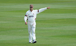 Somerset's Marcus Trescothick gives orders. - Photo mandatory by-line: Harry Trump/JMP - Mobile: 07966 386802 - 15/06/15 - SPORT - CRICKET - LVCC County Championship - Division One - Day Two - Somerset v Nottinghamshire - The County Ground, Taunton, England.
