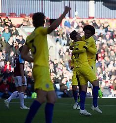 Willian of Chelsea (R) celebrates scoring his sides third goal - Mandatory by-line: Jack Phillips/JMP - 28/10/2018 - FOOTBALL - Turf Moor - Burnley, England - Burnley v Chelsea - English Premier League