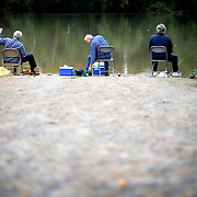 Brothers Richard, Lawrence and Junior Littles fish along the Staunton River.  The three brothers were raised near the river before moving to Martinsville because of their father's job.  They still like to come back, however, to the place where they use to fish as children.