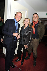 Left to right, GEOFFREY KENT, Sinéad Cusack  and JEREMY IRONS at a charity screening of 'Un Coer en Hiver' in aid of Filmaid International at The Electric Cinema, Portobello Road, London W11 on 7t h October 2008.