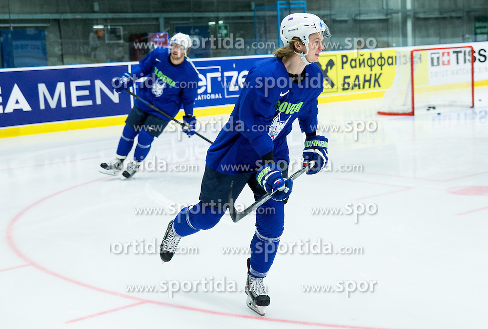 Ziga Jeglic of Slovenia during practice session of Slovenian Ice Hockey National Team at Day 4 of 2015 IIHF World Championship, on May 4, 2015 in Practice arena Vitkovice, Ostrava, Czech Republic. Photo by Vid Ponikvar / Sportida