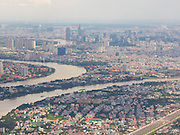 The view of Saigon from a Vietnam Airlines flight prior to landing.