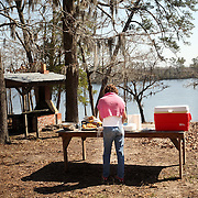 Lunch at the lake, Brunswick county. BBQ