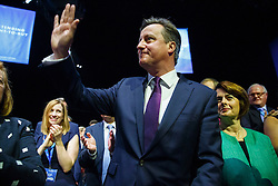 © Licensed to London News Pictures. 06/10/2015. Manchester, UK. Prime Minister DAVID CAMERON meeting delegates ahead of Conservative's London Mayor candidate Zac Goldsmith's speech at Conservative Party Conference at Manchester Central convention centre on Tuesday, 6 October 2015. Photo credit: Tolga Akmen/LNP