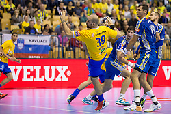 Igor Anic of RK Celje Pivovarna Lasko during handball match between RK Celje Pivovarna Lasko and PGE Vive Kielce in Group Phase A+B of VELUX EHF Champions League, on September 30, 2017 in Arena Zlatorog, Celje, Slovenia. Photo by Urban Urbanc / Sportida
