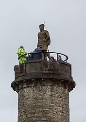 THEMENBILD - Touristen auf den Glenfinnan Monument, Loch Shiel, Schottland, aufgenommen am 13. Juni 2015 // Tourists on the Top of the Glenfinnan Monument at Loch Shiel, Scotland on 2015/06/13. EXPA Pictures © 2015, PhotoCredit: EXPA/ JFK