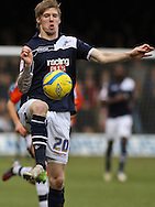 Picture by David Horn/Focus Images Ltd +44 7545 970036.16/02/2013.Alan Dunne of Millwall during the The FA Cup match at Kenilworth Road, Luton.
