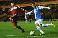 Picture by Paul Gaythorpe/Focus Images Ltd +447771 871632.26/12/2012.Lucas Jutkiewicz of Middlesbrough and Martin Olsson of Blackburn Rovers during the npower Championship match at the Riverside Stadium, Middlesbrough.