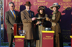 Left to right, MAURICE HENNESSY , Owners of State of Play winner of the 2006 Hennessy Gold Cup MR & MRS WILLIAM RUCKER and LADY GABRIELLA WINDSOR at the 50th running of the Hennessy Gold Cup at Newbury Racecourse, Berkshire on 25th November 2006.<br /><br />NON EXCLUSIVE - WORLD RIGHTS