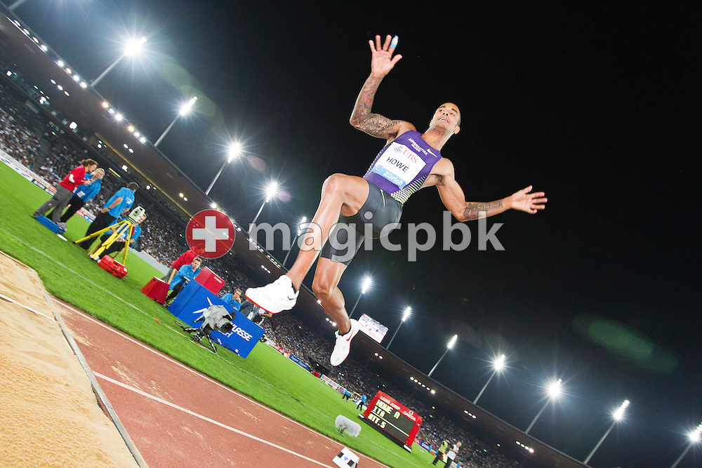 Andrew HOWE of Italy competes in the men's Long Jump during the IAAF Diamond League meeting at the Letzigrund Stadium in Zurich, Switzerland, Thursday, Aug. 19, 2010. (Photo by Patrick B. Kraemer / MAGICPBK)