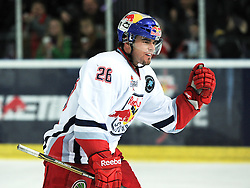 17.12.2011, Volksgarten Eisarena, Salzburg, AUT, Red Bull Salute, Linkoepings HC vs EC Red Bull Salzburg, at the picture Brent Aubin (EC Red Bull Salzburg, #26) celebreates his second goal, during the Red Bull Salute Semifinal, Volksgarten Eisarena, Salzburg, Austria, 2011-10-30, EXPA Pictures © 2011, PhotoCredit: EXPA/ Reinhard Eisenbauer