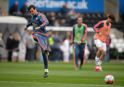 Jack Cork of Swansea City warms up prior to kick off. - Mandatory byline: Alex James/JMP - 07966 386802 - 04/10/2015 - FOOTBALL - Liberty stadium - Swansea, England - Swansea City  v Tottenham hotspur - Barclays Premier League