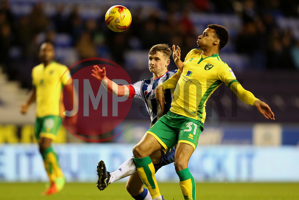 Josh Murphy of Norwich City and Max Power of Wigan Athletic - Mandatory by-line: Matt McNulty/JMP - 07/02/2017 - FOOTBALL - DW Stadium - Wigan, England - Wigan Athletic v Norwich City - Sky Bet Championship