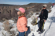 Barton Glasser / Daily Press.during a snowshoe walk around the Black Canyon of The Gunnison National Park Sunday afternoon.