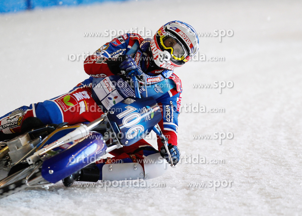 13.03.2016, Assen, BEL, FIM Eisspeedway Gladiators, Assen, im Bild Dmitry Koltakov (RUS) //  during the Astana Expo FIM Ice Speedway Gladiators World Championship in Assen, Belgium on 2016/03/13. EXPA Pictures &copy; 2016, PhotoCredit: EXPA/ Eibner-Pressefoto/ Stiefel<br /> <br /> *****ATTENTION - OUT of GER*****