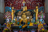 buddha altar Wat Yai Chai Mongkhon Ayutthaya Bangkok Thailand