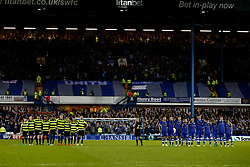 Huddersfield Town and Sheffield Wednesday players line up during the penalty shoot out - Mandatory by-line: Matt McNulty/JMP - 17/05/2017 - FOOTBALL - Hillsborough - Sheffield, England - Sheffield Wednesday v Huddersfield Town - Sky Bet Championship Play-off Semi-Final 2nd Leg