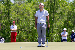 May 12, 2019 - Dallas, TX, U.S. - DALLAS, TX - MAY 12: Sung Kang concentrates prior to his putt on #4 during the final round of the AT&T Byron Nelson on May 12, 2019 at Trinity Forest Golf Club in Dallas, TX. (Photo by Andrew Dieb/Icon Sportswire) (Credit Image: © Andrew Dieb/Icon SMI via ZUMA Press)