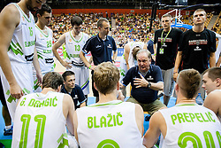 Bozidar Maljkovic, head coach of Slovenia during friendly match between National teams of Slovenia and Latvia for Eurobasket 2013 on August 2, 2013 in Arena Zlatorog, Celje, Slovenia. Slovenia defeated Latvia 71-67. (Photo by Vid Ponikvar / Sportida.com)