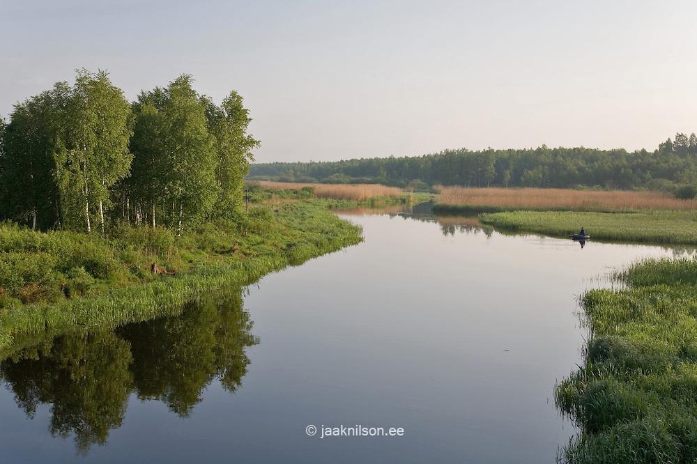 Elva River, Tartu County, Estonia, Europe