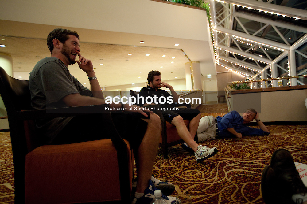 21 May 2009: Duke Blue Devils midfielder Ned Crotty (22) during a team meeting at the Marriott Hotel in Boston, MA