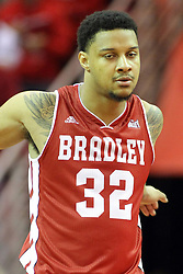 17 January 2015:   Mike Shaw during an NCAA MVC (Missouri Valley Conference men's basketball game between the Bradley Braves and the Illinois State Redbirds at Redbird Arena in Normal Illinois