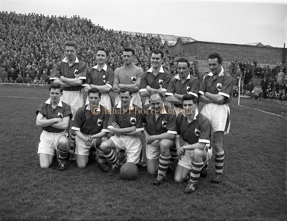 18/03/1957<br /> 03/18/1957<br /> 18 March 1957<br /> Soccer: League of Ireland v Irish League at Dalymount Park, Dublin. The Irish League team.