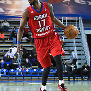 Grand Rapids Drive Guard Lorenzo Brown (17) drives towards the lane in the first half of a NBA D-league regular season basketball game between the Delaware 87ers and the Grand Rapids Drive (Detroit Pistons) Friday, Jan. 09, 2015 at The Bob Carpenter Sports Convocation Center in Newark, DEL