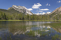 McDonald Lake Sawtooth Mountains Idaho