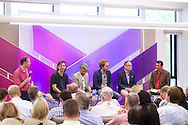 Bill Thoet of Booz Allen Hamilton moderates the Analytics: How Big Data Can Solve our Most Complex Problems panel discussion at the 2014 Aspen Ideas Festival in Aspen, CO. ©Brett Wilhelm