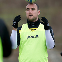 St Johnstone Training....23.03.12<br /> Lee Croft pictured during training this morning....<br /> Picture by Graeme Hart.<br /> Copyright Perthshire Picture Agency<br /> Tel: 01738 623350  Mobile: 07990 594431