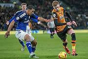 Sam Clucas (Hull City) during the Sky Bet Championship match between Hull City and Cardiff City at the KC Stadium, Kingston upon Hull, England on 13 January 2016. Photo by Mark P Doherty.