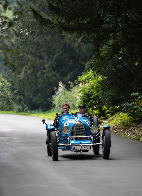 Bugatti Type 35 participant in Grandhotel Schloss Bensberg Classic