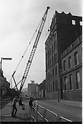View of Belfast Barricades - Falls Rd, Clonard, bombay st, nationalists, homes burned, by British loyalists,     30/08/1969
