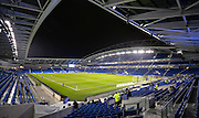 The Amex stadium during the Sky Bet Championship match between Brighton and Hove Albion and Sheffield Wednesday at the American Express Community Stadium, Brighton and Hove, England on 8 March 2016. Photo by Adam Rivers.