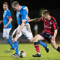 Dave Mackay Testimonial: St Johnstone v Dundee…06.10.17…  McDiarmid Park… <br />Fraser Wright and Matt Henvey<br />Picture by Graeme Hart. <br />Copyright Perthshire Picture Agency<br />Tel: 01738 623350  Mobile: 07990 594431