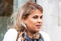 Nadia Essex outside her employment tribunal in London where she is suing Celebs Go Dating former co-host Eden Blackman for unfair dismissal. London, April 24 2019.