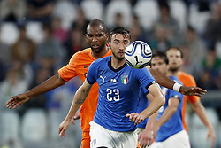 (L-R) Ryan Babel of Holland, Bryan Cristante of Italy during the International friendly match between Italy and The Netherlands at Allianz Stadium on June 04, 2018 in Turin, Italy