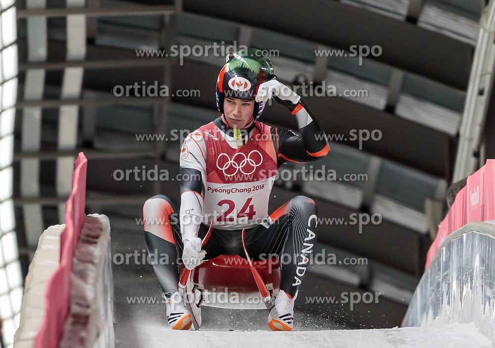 11.02.2018, Olympic Sliding Centre, Pyeongchang, KOR, PyeongChang 2018, Rodeln, Herren, 3. Lauf, im Bild Reid Watts (CAN) // Reid Watts of Canada during the Men's Luge Singles Run 3 competition at the Olympic Sliding Centre in Pyeongchang, South Korea on 2018/02/11. EXPA Pictures © 2018, PhotoCredit: EXPA/ Johann Groder