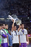Celebration during the UEFA Champions League Final match between Real Madrid and Juventus at the National Stadium of Wales, Cardiff, Wales on 3 June 2017. Photo by Giuseppe Maffia.<br /> <br /> Giuseppe Maffia/UK Sports Pics Ltd/Alterphotos