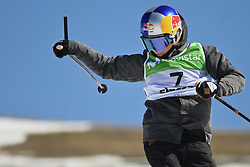 19.03.2017, Ski Stadium, Sierra Nevada, ESP, FIS Freestyle Ski and Snowboard WM, Sierra Nevada 2017, Slope Style Ski, im Bild Tess Ledeux (FRA) on her way to winning the gold medal during the Women's Slope Style Ski Final // Tess Ledeux (FRA) on her way to winning the gold medal during the Women's Slope Style Ski Final of the FIS Freestyle Ski & Snowboard World Championships 2017 at the Ski Stadium in Sierra Nevada, Spain on 2017/03/19. EXPA Pictures © 2017, PhotoCredit: EXPA/ Focus Images/ Kristian Kane<br /> <br /> *****ATTENTION - for AUT, GER, FRA, ITA, SUI, POL, CRO, SLO only*****