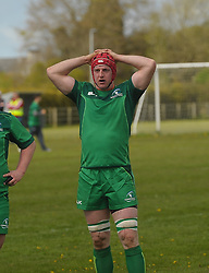 Ballinrobe&rsquo;s Robert Holian representing Connacht junior&rsquo;s during the interprovincial clash against Leinster at the Green Ballinrobe on saturday last.<br /> Pic Conor McKeown